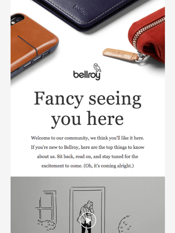 You're in! Welcome to the family by Bellroy 9