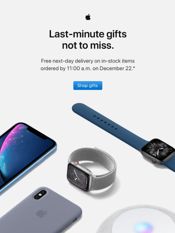 Order last-minute gifts from Apple Email by Apple 2