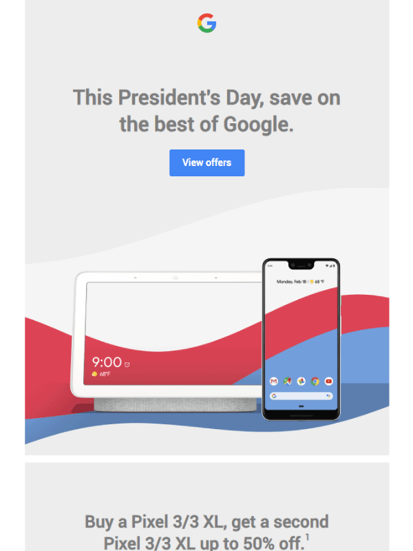 President's Day sale starts now Email by Google 1