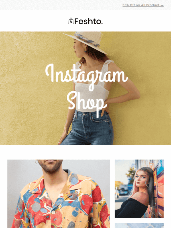 Instagram Shop Email by Liramail 6