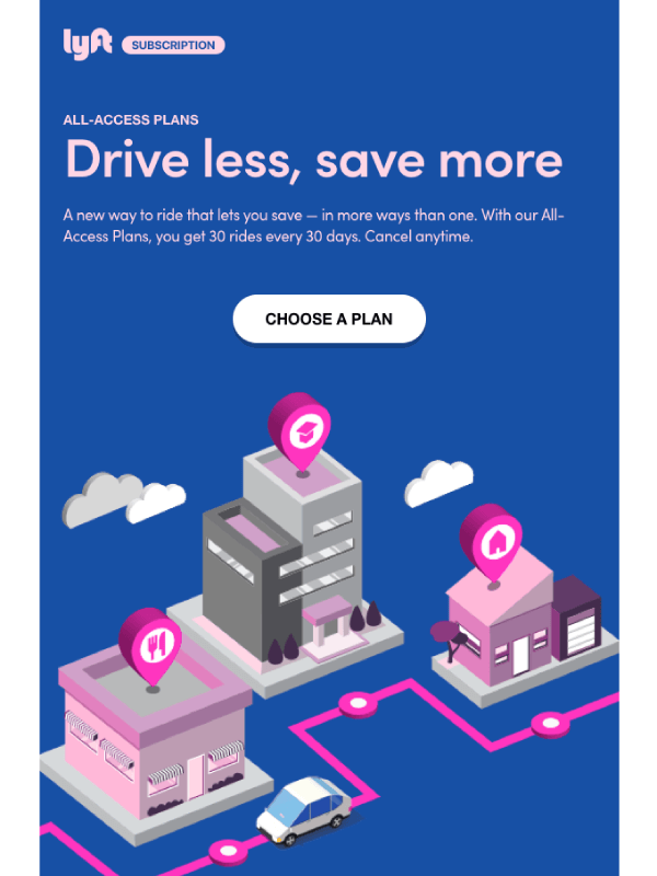 All-Access Plans: A new way to Ride Email by lyft 8