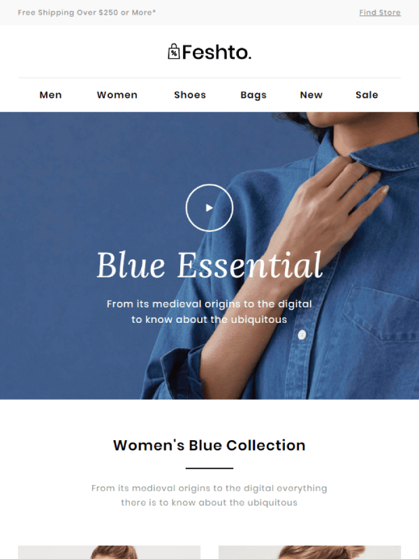 Blue Collection Email by Liramail 10