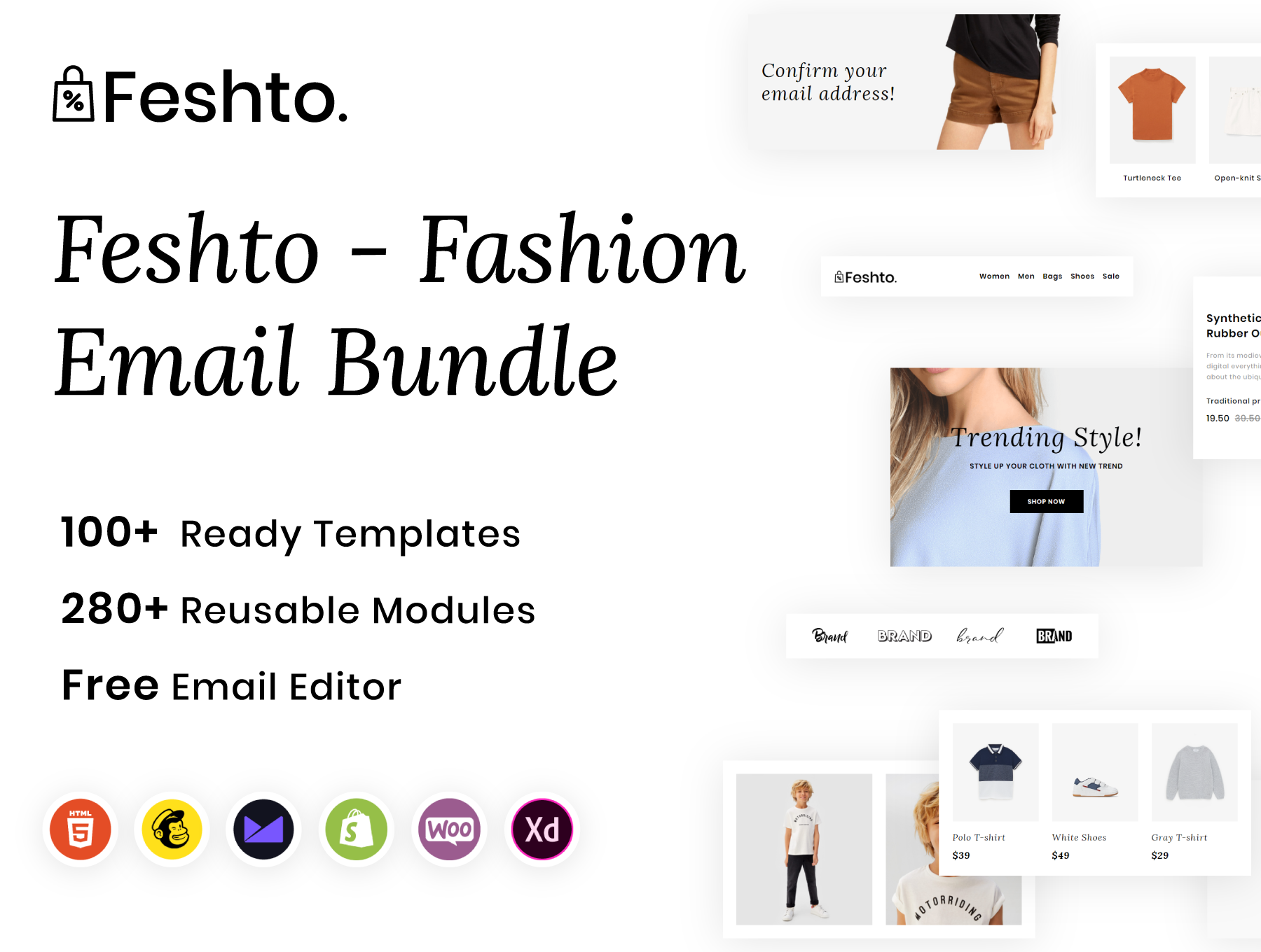 Feshto - Fashion Email Bundle